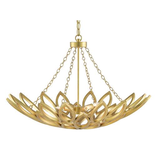 Allemande Contemporary Gold Four-Light Chandelier