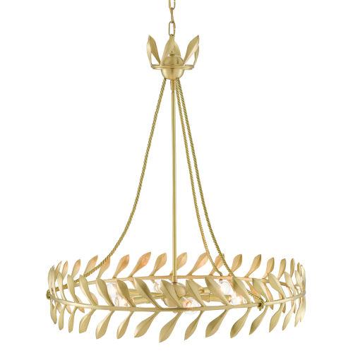 Laurus Satin Brass Six-Light Chandelier