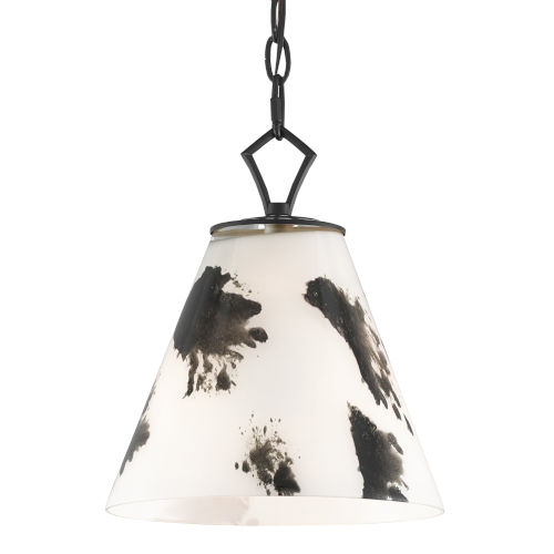 Peppard Black and White One-Light Pendant
