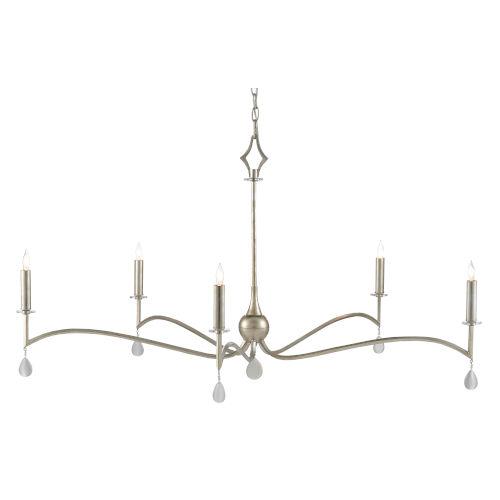 Serilana Antique Silver Five-Light Chandelier