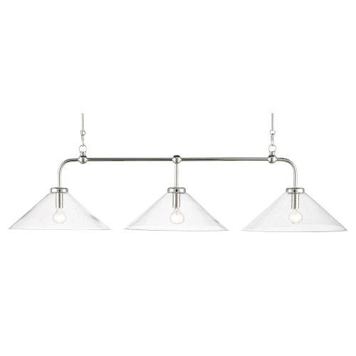 Brightman Polished Nickel Three-Light Chandelier