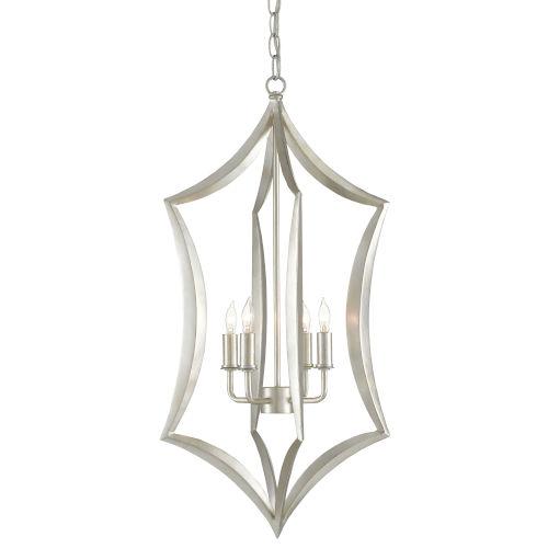 Obelia Contemporary Silver Four-Light Pendant
