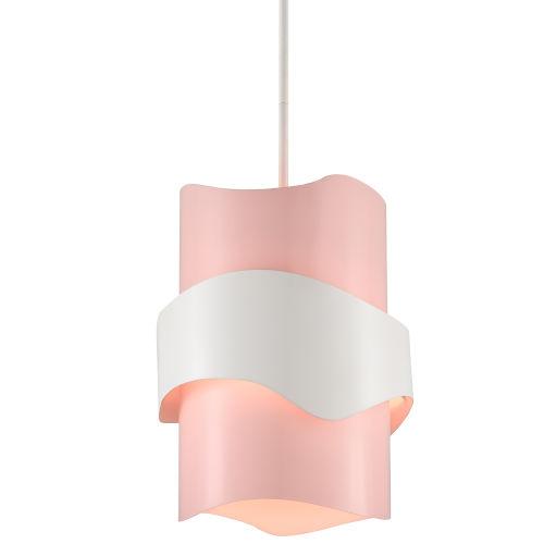 Miami Beach Blush Pink and White One-Light Pendant