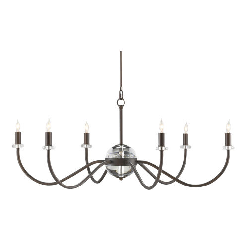 Salerio Bronze Six-Light Chandelier