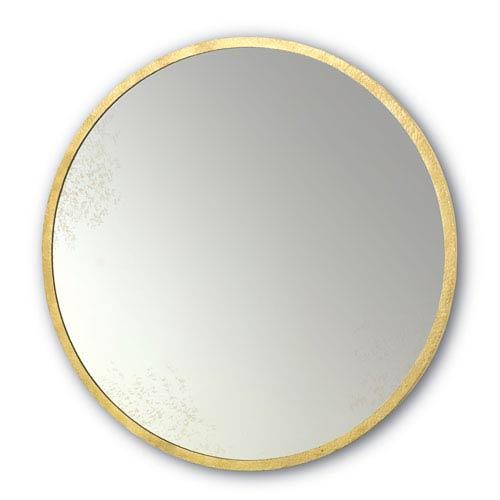 Aline Gold Leaf 42-Inch Round Mirror