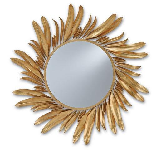 Folium Contemporary Gold Leaf Mirror