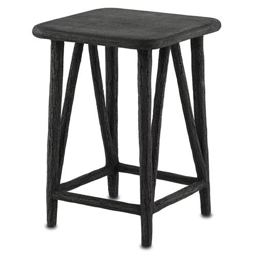 Arboria Distressed Black Accent Table