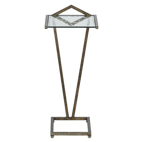 Currey & Company Veda Pyrite Bronze and Silver Raj Mirror Cocktail Table
