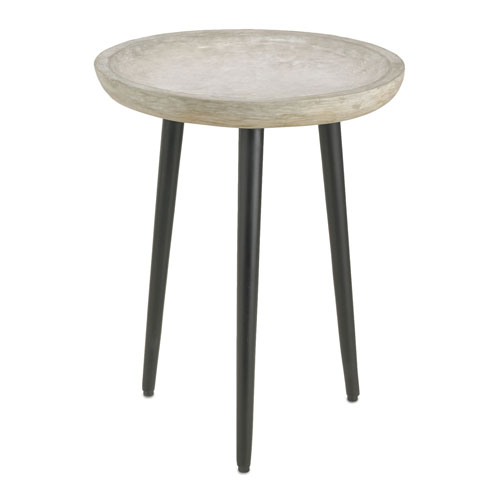 Campo Light Acid and Satin Black Large Concrete Table