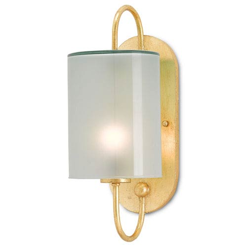 Wrought iron bath light fixture bellacor currey company glacier contemporary gold leaf one light bath sconce aloadofball Image collections