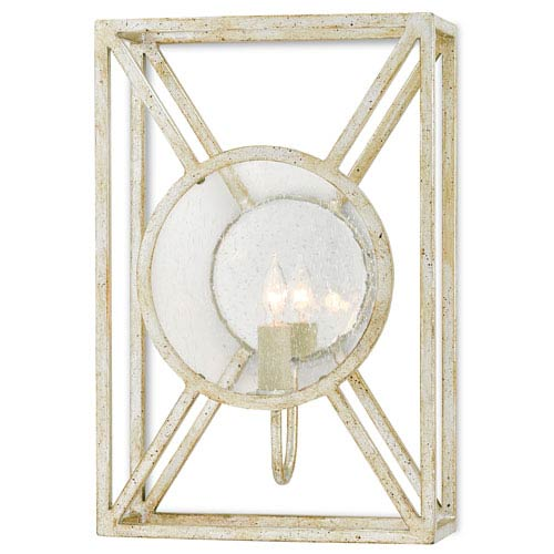 Currey & Company Beckmore Silver Granello One-Light Wall Sconce