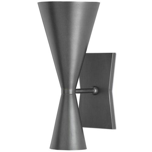Gino Dark Gray Two-Light Wall Sconce