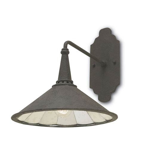 Manuscript Wrought Iron 14-Inch One-Light Wall Sconce