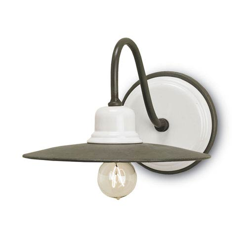 Eastleigh White and Hiroshi 9-Inch One-Light Wall Sconce