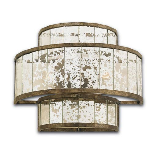 Fantine Pyrite Bronze 14-Inch Two-Light Wall Sconce