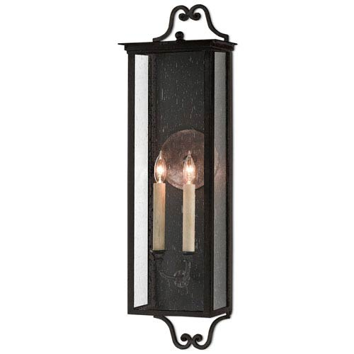 Giatti Pure Black Midnight Two-Light Outdoor Wall Sconce