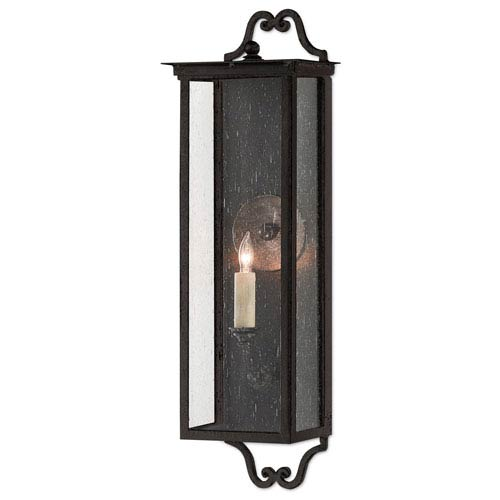 Giatti Pure Black Midnight One-Light Outdoor Wall Sconce