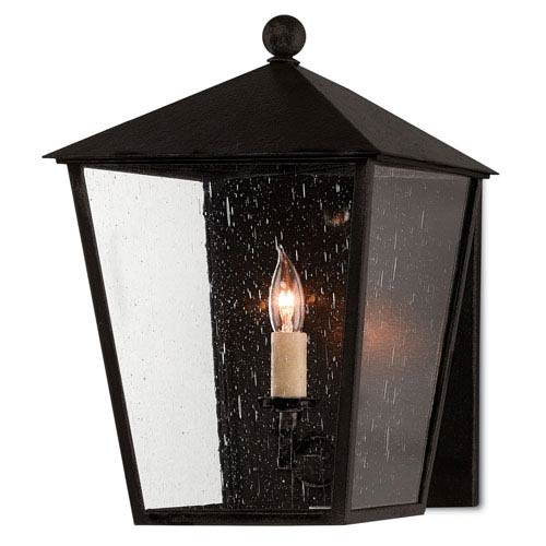 Bening Pure Black Midnight One-Light Outdoor Wall Sconce