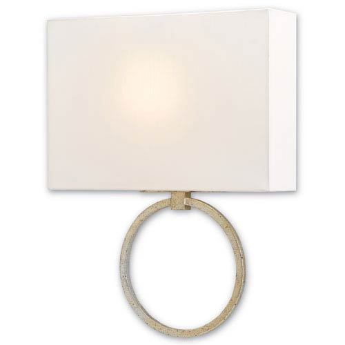 Porthole Silver Granello One-Light Fluorescent Wall Sconce