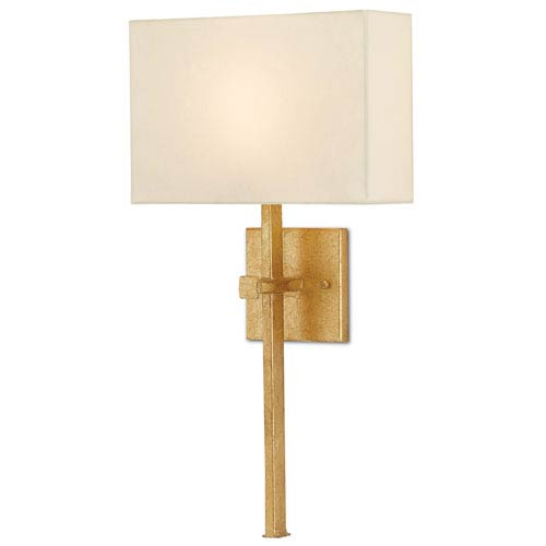 Ashdown Antique Gold Leaf One-Light Fluorescent Wall Sconce