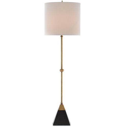 Recluse Vintage Brass and Black One-Light Table Lamp