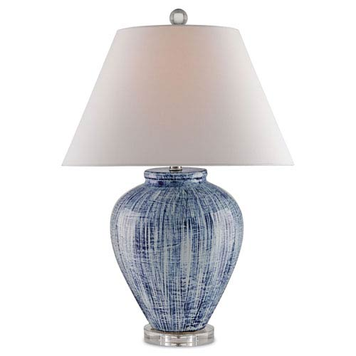 Malaprop Blue and White One-Light Table Lamp