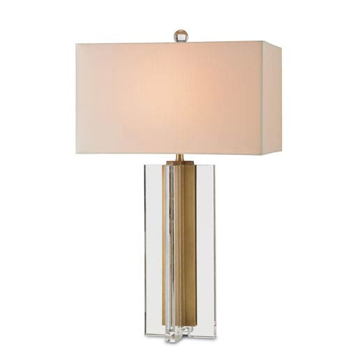 Skye Clear and Brass 18-Inch One-Light Table Lamp