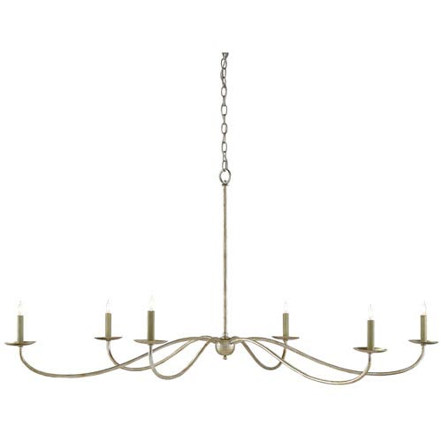 Saxon Silver Granello Six-Light Chandelier