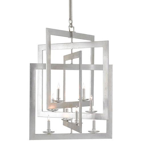 Middleton Contemporary Silver Leaf Eight-Light Chandelier