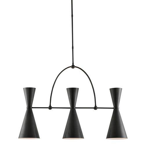 Currey & Company Gino Black Six-Light Chandelier