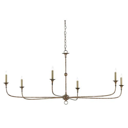Nottaway Pyrite Bronze Six-Light Chandelier