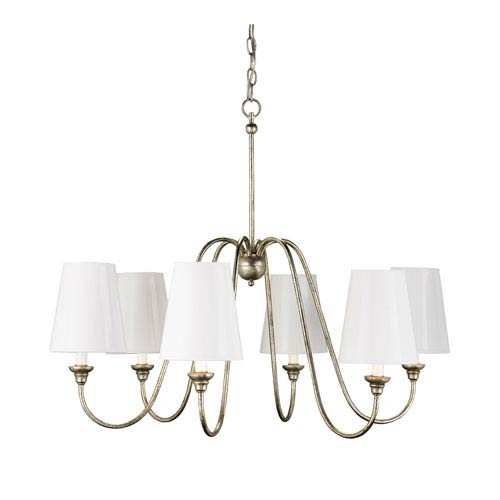 Currey & Company Orion Small Six-Light Chandelier - Without Shades