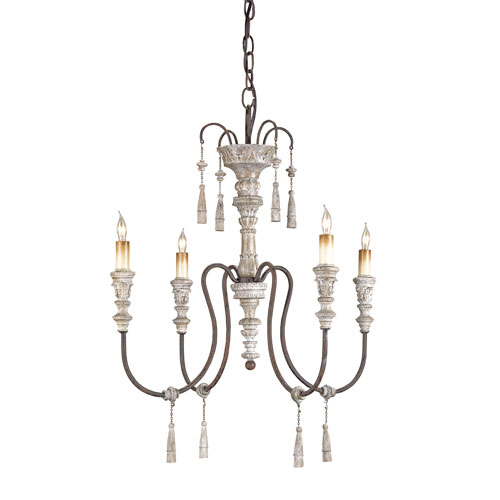 Hannah Stockholm White/Rust Four-Light Mini Chandelier