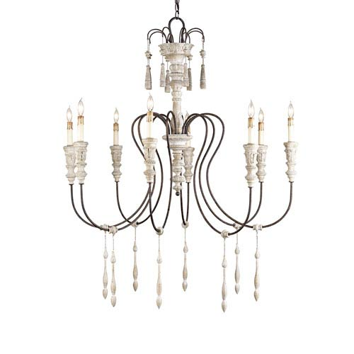Hannah Stockholm White/Rust Eight-Light Medium Chandelier