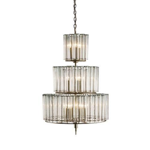 Currey & Company Bevilacqua Silver Leaf 12-Light Chandelier