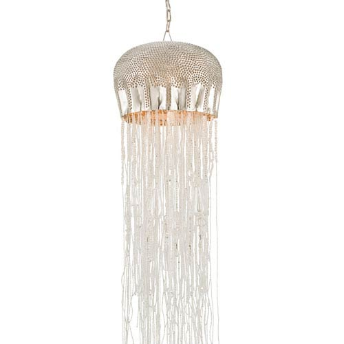 Medusa Nickel and Clear 12-Inch Wide One-Light Medium Pendant