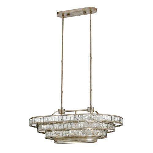 Frappe Silver Granello 36-Inch Three-Light Pendant