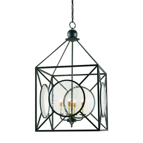 Old Iron Four-Light Beckmore Lantern  Chandelier