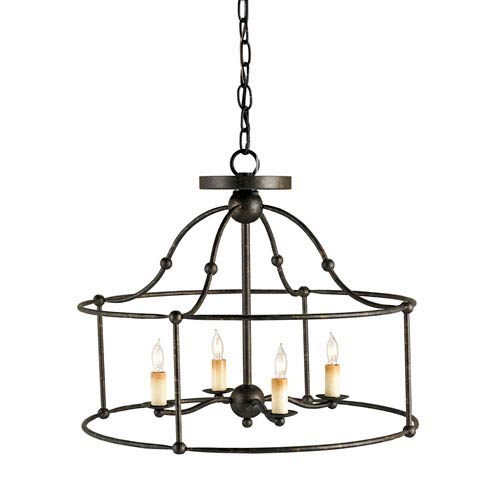 Fitzjames Mayfair Four-Light Ceiling Mount Pendant