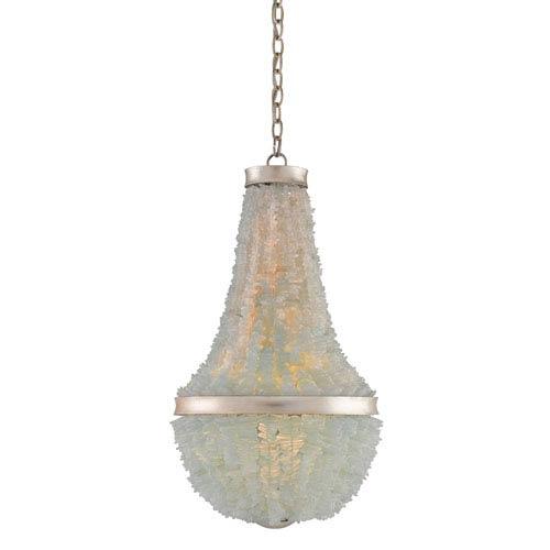 Platea Contemporary Silver Leaf Three-Light Pendant
