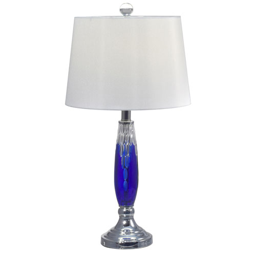 Dale Tiffany Polished Chrome One-Light 13-Inch Table Lamp