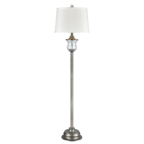 Antique Nickel One-Light 15-Inch Floor Lamp