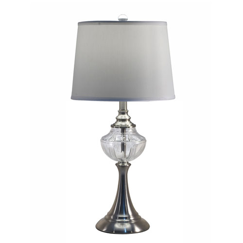 Dale Tiffany Brushed Nickel One-Light 13-Inch Table Lamp