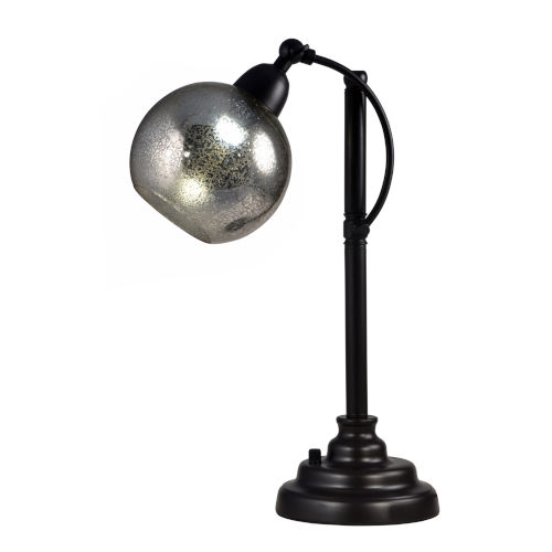 Springdale Oil Rubbed Bronze and Silver Alexandria LED Hand Blown Art Glass Table Lamp