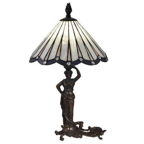 Dale Tiffany Antique Bronze One Light 12 Inch Table Lamp Stt17057