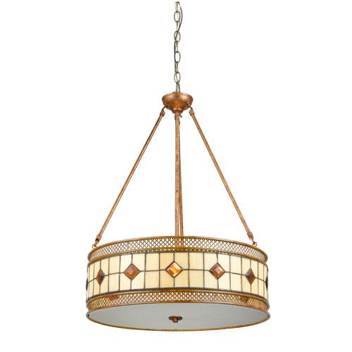 Rustic Bronze Three-Light 20-Inch Pendant
