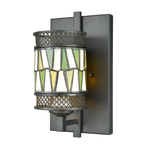 Tiffany Bronze One-Light 7-Inch Wall Sconce