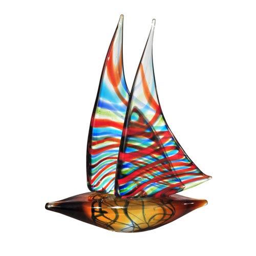 Hand Blown Art Glass 10-Inch Chimera Sculpture