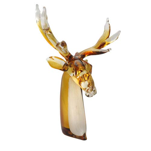 Dale Tiffany Reindeer Hand Blown Art Glass Figurine