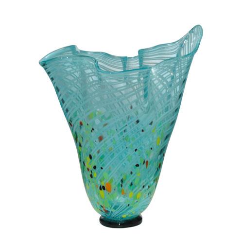 Hand Blown Art Glass 10-Inch Malibu Vase